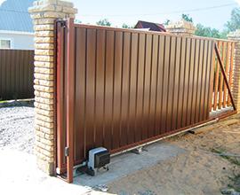Откатные ворота шириной 5м
