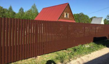 Забор из двухстороннего штакетника, Фото, № 39